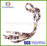 カスタムNovelty PolyesterかRunning Sports ShoesのためのCotton Fabric Textile Sublimation Printed Flat Bright Colors Shoe Laces Yarn