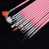 Berufsnagel-Kunst-Pinsel-Set mit Eigenmarken-Druck