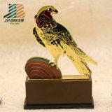 Trophée fait sur commande de klaxon de l'or 3D en alliage de zinc à la maison de décoration (JIABO-JB1668)
