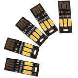 Portable Mini USB Power 3 LEDs Noche Luz Luz cálida universal para el Banco de energía Mobile Charger Computer