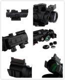 4X32mm Tactical 20mm Rails Fibra Óptica Vermelho / Verde / Azul DOT Sight Scope