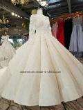 Aoliweiyaの花嫁の最新のデザイン長い袖のウェディングドレス