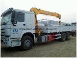 De Vrachtwagen van de Kraan HOWO/de Opgezette Vrachtwagen van de Kraan /6 *4 met Rechte/Vouwbare Kraan