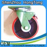 Patent-Stahlfußrollen-Rad mit Bremse
