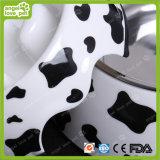 De Kom van de Melamine van de Koe van de melk met de Kom van het Huisdier van het Roestvrij staal