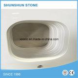 台所のための安く白い人工的なCalacattaの石造りの水晶カウンタートップ