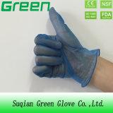 Голубые устранимые перчатки PVC (ISO, аттестованный CE)