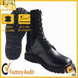 新しいデザイン黒の側面のZipprの戦闘用ブーツ