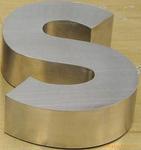 Lettre à LED de métal pour la soudure de la machine de soudage au laser Gold/argenté