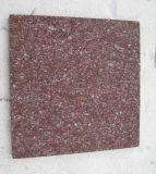 フロアーリングのための炎にあてられた赤い斑岩の花こう岩の石の立方体の敷石