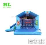 Jaune brillant Stars Soft Inflatable Bouncer Combo avec la diapositive