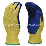"""10g """"мятым"""" эффектом готово хлопка латексные перчатки с покрытием"""