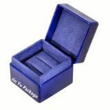 Luxuxmatt-schwarzes ledernes Papier-Schmucksache-Ring-Geschenk-verpackenkästen