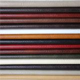 Cuir matériel de sofa de PVC d'accessoires artificiels de meubles de prix usine