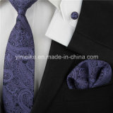 Nouvelle tendance Paisley Design Fashion Polyester Woven Ties Mens