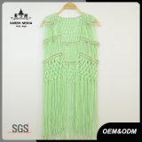 女性の特別なデザイン金属ビードの緑のBeachwear