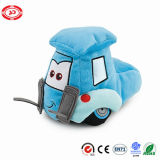 Remorque chariot élévateur à fourche de voiture en peluche bleu broderie doux Kids jouet en peluche