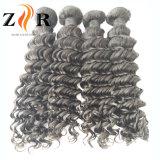 Человеческие волосы естественного Weave черных волос сырцовые бразильские курчавые