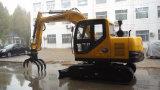 保定のISO9001証明書が付いている黄色く新しく小さいクローラー掘削機機械