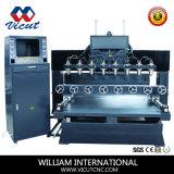 Tableau Déplacement professionnel à plat et la gravure sur bois de la machine rotative VCT-TM2515fr-8h
