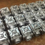 Stainless Steel 3 Pieces Ball Valve with Mouting Propellent-actuated device