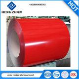 L'aluminium de couleur rouge de la bobine avec PVDF revêtement avec film de protection