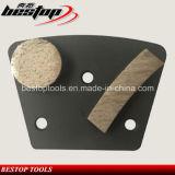 Блок конкретного трапецоида 2 этапов меля с приполюсной магнитной задней частью