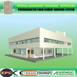 Case prefabbricate personalizzate/costruzione di appartamento modulare con i comitati solari di vetro