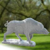 Escultura de mármol del verraco salvaje, estatua animal