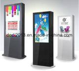 55 grado esterno del chiosco di informazioni di pubblicità di schermo dell'affissione a cristalli liquidi di colore completo di pollice IP65 che fa pubblicità alla macchina