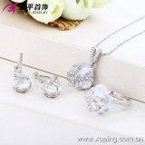 Установленные ювелирные изделия серебряного цвета роскошные (63013)