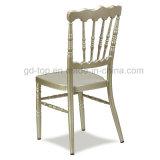 Chaise en aluminium d'or de Napoleon de siège