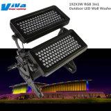 Projecteur à LED/d'éclairage LED 192X3w RGB 3 à 1 LED de plein air Projecteur mural