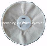 """roue de polissage de polissage du coton 6 """" X1/2 """" blanc desserré pour le polonais final"""