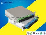 divisor óptico del PLC de la fibra 1X8 con la placa de la pieza inserta