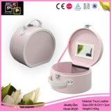 Form-schöner rosafarbener runder Schmucksache-Kasten