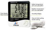 Htc-2 LCD gebruikte de Digitale Hydrometer van de Thermometer de Binnen & Openlucht Dubbele Vertoning van de Temperatuur