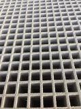 FRP/GRP de gevormde Raspende Vierkante Bevloering van de Laag van het Netwerk Dubbele