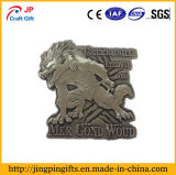 2018 Venta caliente metal enchapado antigua insignia de recuerdos de Wolf