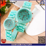 Yxl-783 New Arrival Jelly Silicone Watch Transparent Montre en Silicone Montre en Silicone en Quartz en Plastique