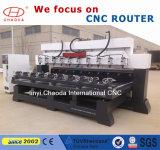 Machine de gravure rotatoire de commande numérique par ordinateur, commande numérique par ordinateur de Tableau rotatoire