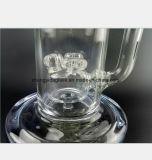 Tuyau d'eau en verre de double filtration tuyau de recyclage du tabac narguilé