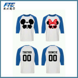 Camisa de T unisex personalizada venda por atacado do rato do logotipo