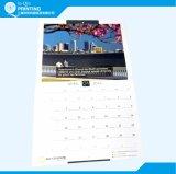 Calendario murale su ordinazione di stampa in offset di colore completo