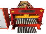 O aço coloriu o rolo corrugado do painel da telha de telhado da folha que dá forma à máquina