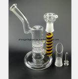 De dubbele Rokende Pijp van het Recycling van de Waterpijp van het Glas van de Filter van de Honingraat