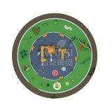 Apparatuur van de Speelplaats van de Kinderen van de Reeks van Kaiqi de Houten Openlucht (KQ60074A)