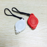 Promotion ABS Matériau Option de couleur Rouge Blanc LED Vélo Safety Warning Light Set Mini Key Chain Light for Runner