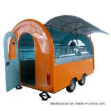 Heiß-Verkauf der mobilen Nahrungsmittelkarre mit Rädern