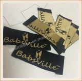 Étiquettes tissées par collet d'étiquettes de marque de vêtement de qualité supérieur pour le vêtement